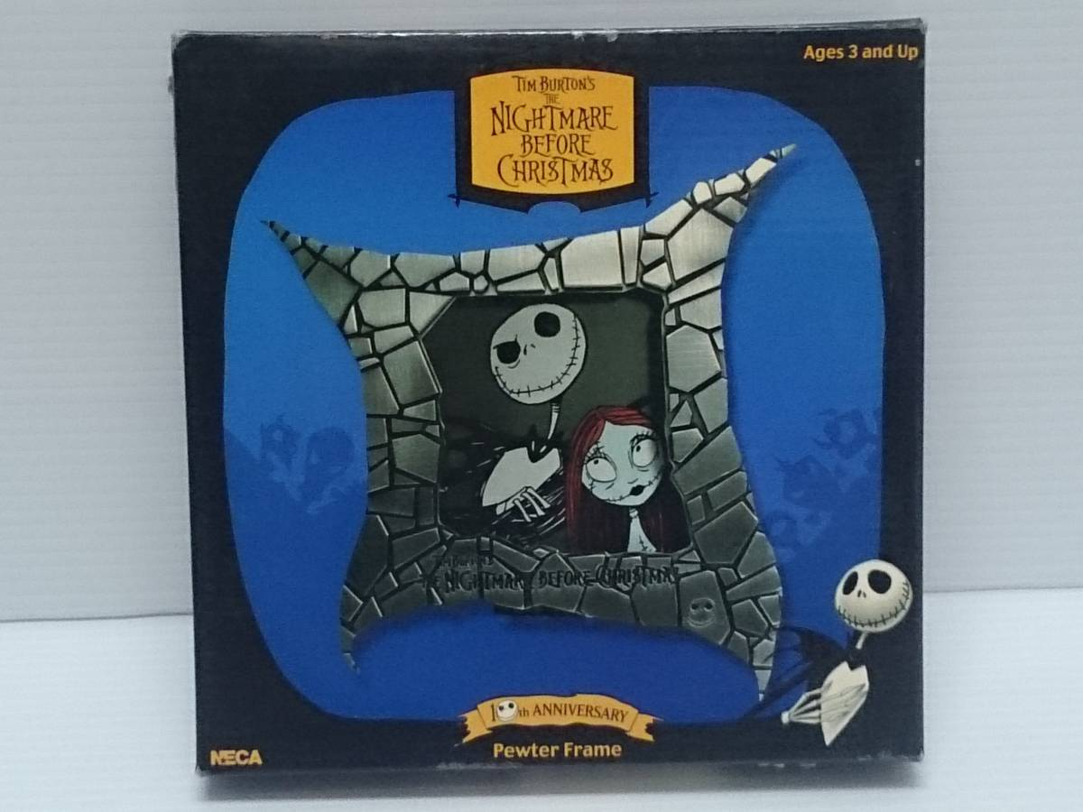 NECA THE NIGHTMARE BEFORE CHRISTMAS ザ・ナイトメア・ビフォア・クリスマス 10th ANNIVERSARY Jack & Sally Pewter Frame_画像1