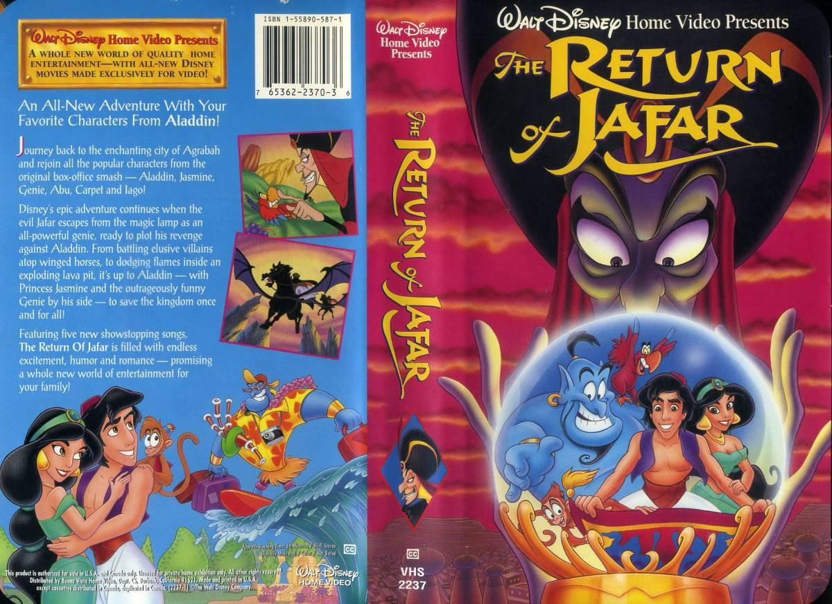 即決〈同梱歓迎〉VHS The Return of Jafar アラジン ジャファーの逆襲 ディズニー アニメ ビデオ◎その他多数出品中∞643_画像1