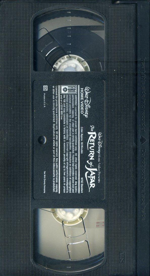 即決〈同梱歓迎〉VHS The Return of Jafar アラジン ジャファーの逆襲 ディズニー アニメ ビデオ◎その他多数出品中∞643_画像2