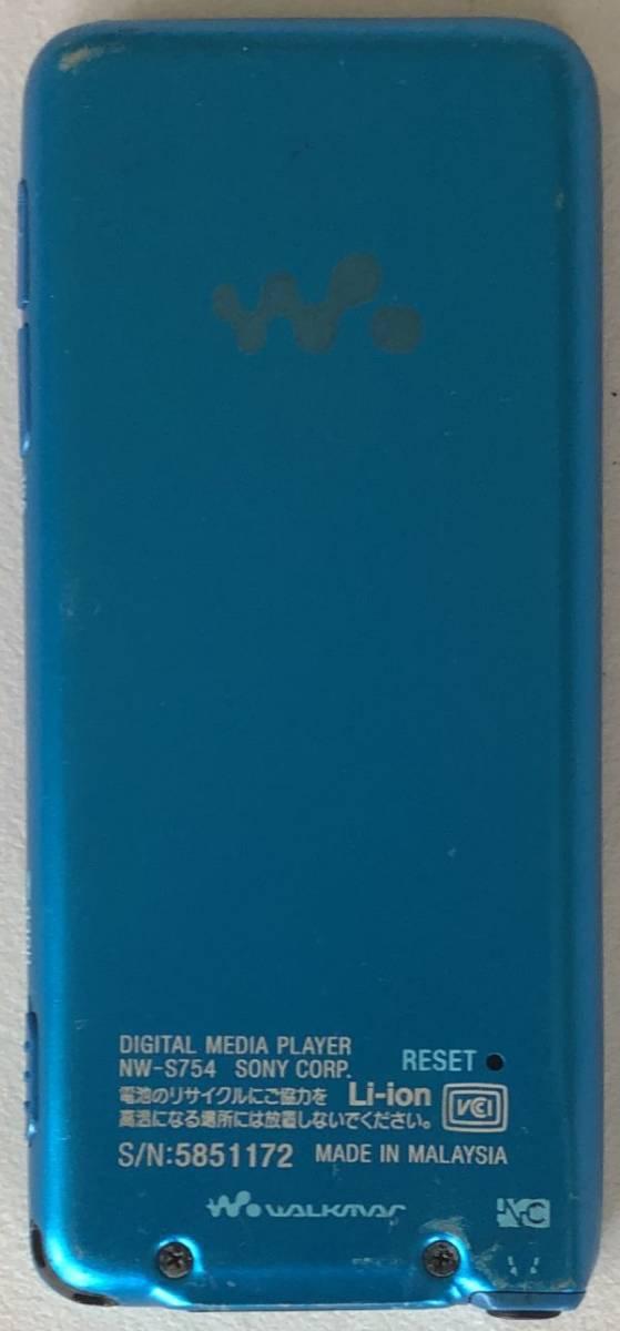 【SONY】デジタルウォークマン NW-S754(8GB)ブルー:送料185円_画像2