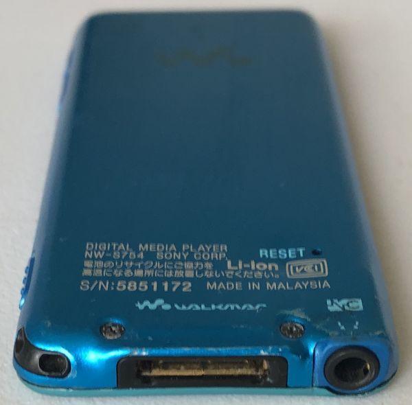 【SONY】デジタルウォークマン NW-S754(8GB)ブルー:送料185円_画像3