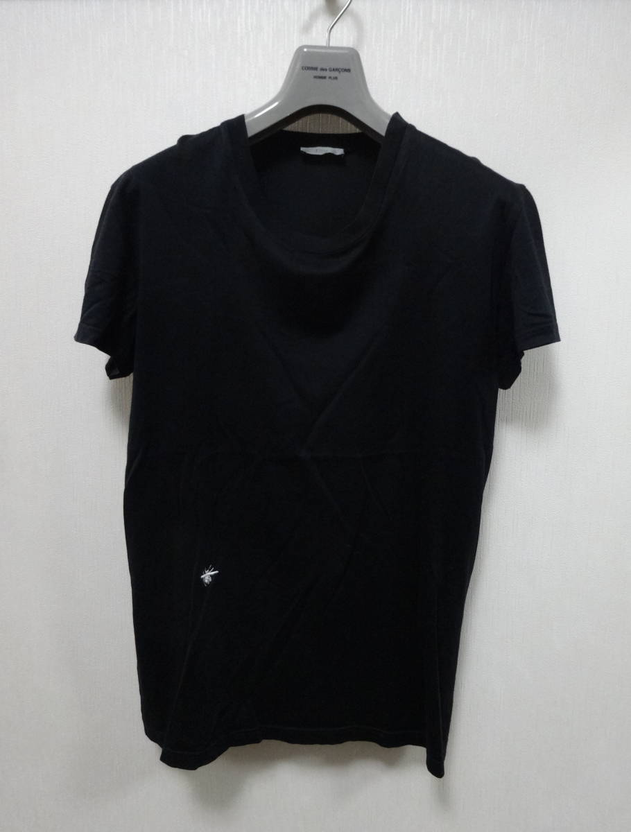the best attitude 4df1d 6b7ad Dior Homme ディオールオム Tシャツ XS 美品 bee刺繍 蜂 ブラック 黒