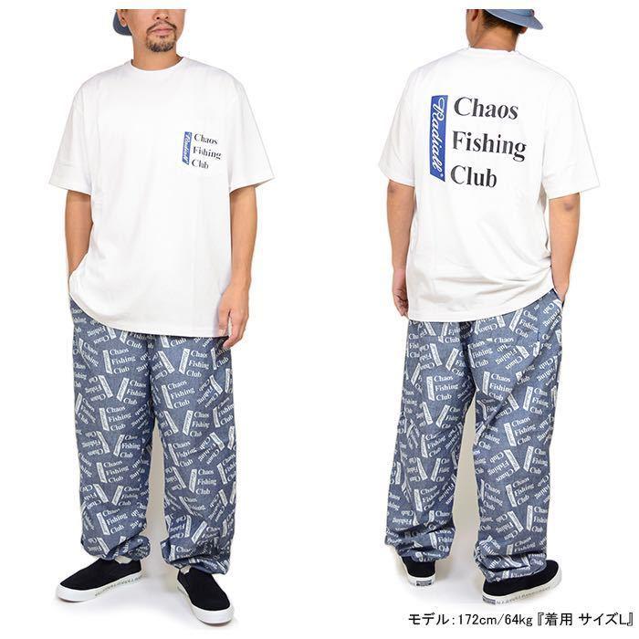 新品未使用!RADIALL × CHAOS FISHING CLUB 【L】コラボ Tシャツ ラディアル カオスフィッシングクラブ ホワイト 半袖_画像4