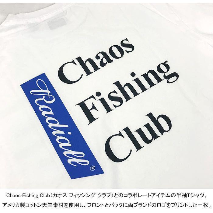 新品未使用!RADIALL × CHAOS FISHING CLUB 【L】コラボ Tシャツ ラディアル カオスフィッシングクラブ ホワイト 半袖_画像7