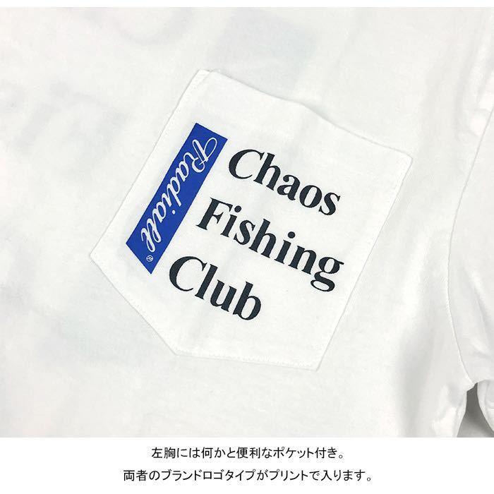 新品未使用!RADIALL × CHAOS FISHING CLUB 【L】コラボ Tシャツ ラディアル カオスフィッシングクラブ ホワイト 半袖_画像5