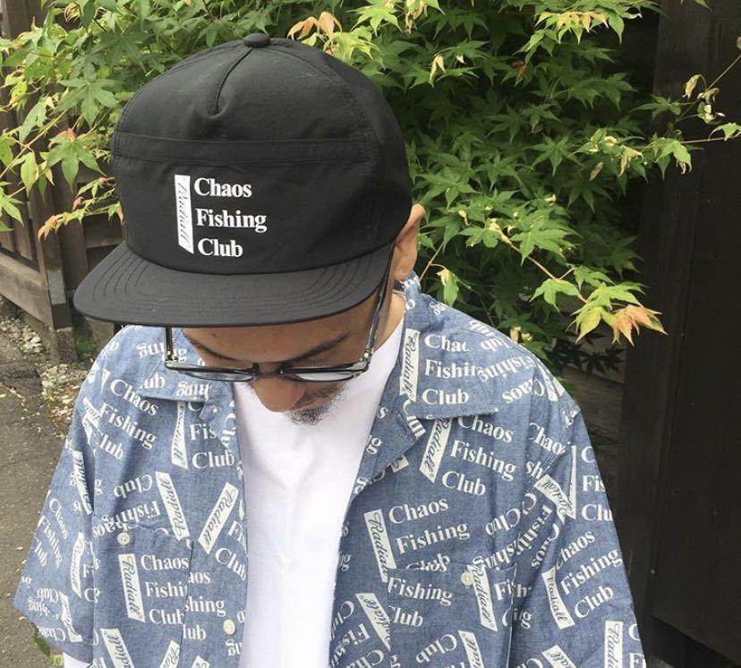 新品未使用!RADIALL × Chaos Fishing Club 【TRUCKER CAP】ラディアル カオスフィッシングクラブ 帽子 キャップ コラボ 黒 ルード_画像4