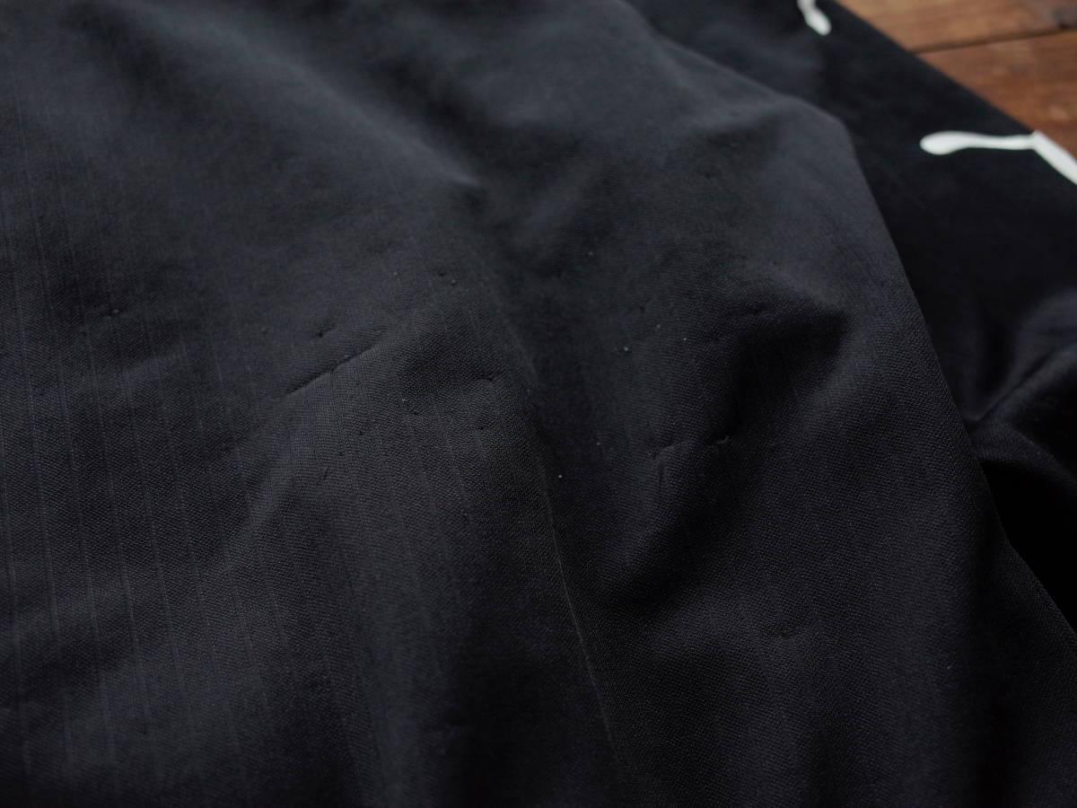 ★ PUMA プーマ 日本製 ジップアップ JKT ジャージ トラックジャケット 両腕 ロゴ レアデザイン 珍品 ブラック ジップアップ ★_画像8