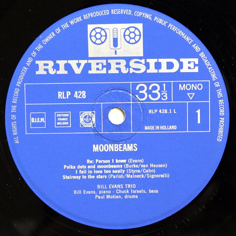 Bill Evans/Moon Beams◆オランダ オリジナル MONO RLP428 Holland コーティングジャケット 1_画像3