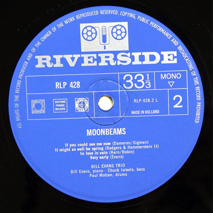 Bill Evans/Moon Beams◆オランダ オリジナル MONO RLP428 Holland コーティングジャケット 1_画像4