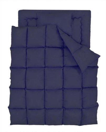 数量限定 フェザー100% 羽根布団 セミダブル 8点セット 和タイプ ブルー
