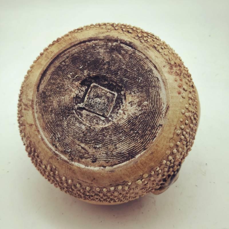 旧藏 古董品 清代嘉慶年間蛇鼠錢罐 古董古瓷器民間收藏 高9cm口徑8.5cm底徑10cm_画像3