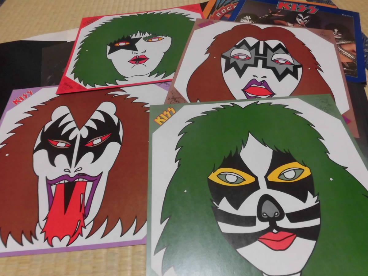 キッス KISS 「続・地獄の全貌」 帯付 ハードロック ヘヴィーメタル フォーク LP _画像6