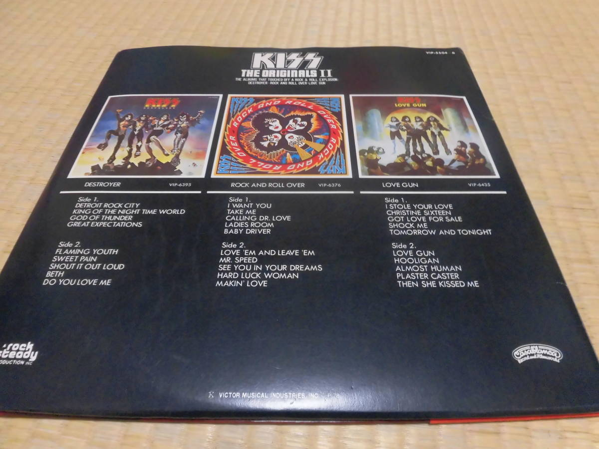 キッス KISS 「続・地獄の全貌」 帯付 ハードロック ヘヴィーメタル フォーク LP _画像10
