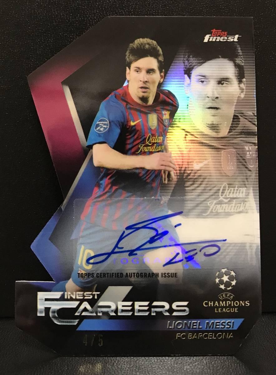 【 Lionel Messi 】2018-19 Topps Finest UEFA CL Finest Careers Auto 5枚限定!!リオネル・メッシ 直筆サインカード!!FCバルセロナ