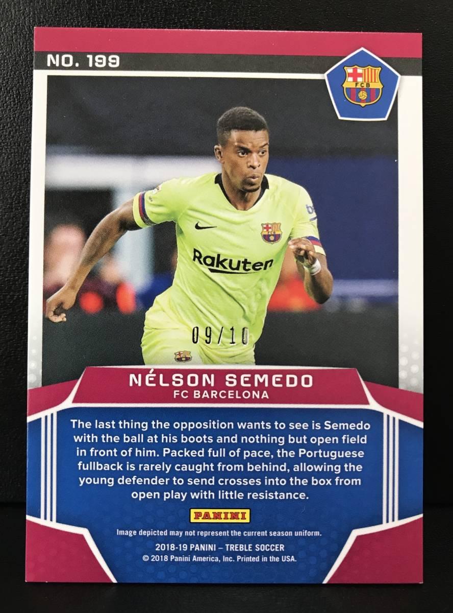 【 Nelson Semedo 】2018-19 Panini Treble Panini Premiere Rookie Card Green 10枚限定!!ルーキーカード!!FC Barcelona_画像2