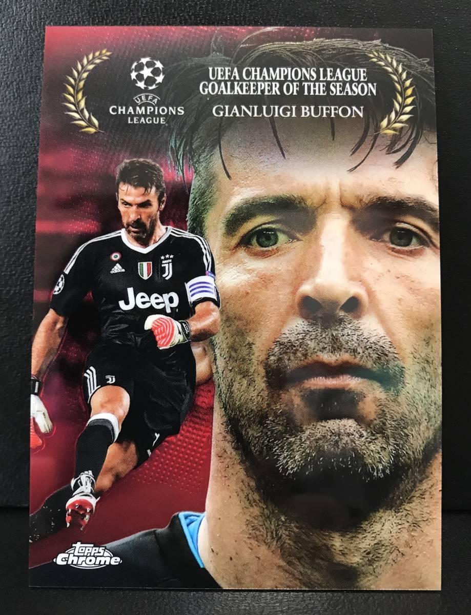 10枚限定!!【 Gianluigi Buffon 】2017-18 Topps Chrome UEFA Champions League Award Winners RED Refractor 08/10!!Juventus