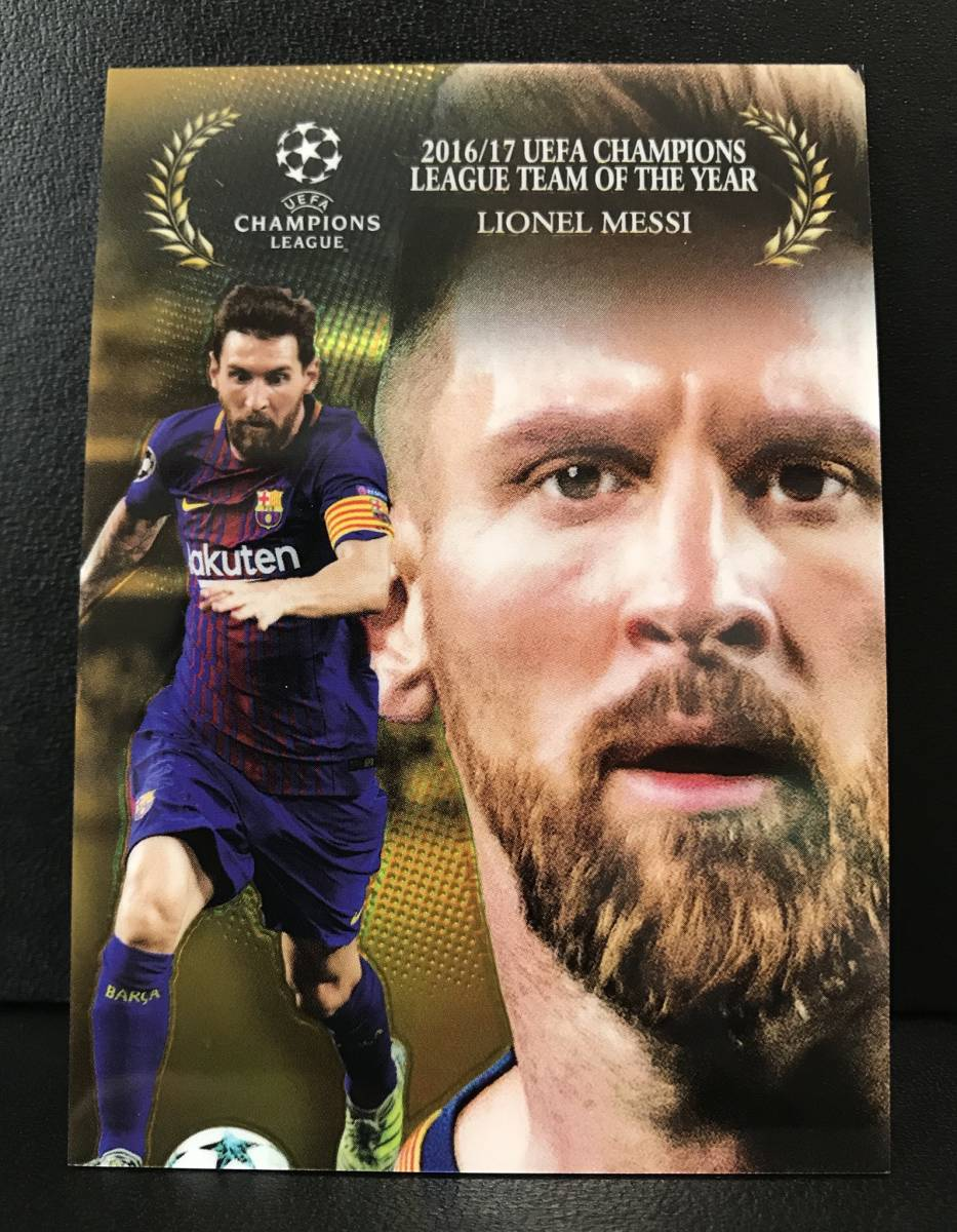 【 Lionel Messi 】2017-18 Topps Chrome UEFA Champions League Award Winners GOLD Refractor 50枚限定!!メッシ バルセロナ