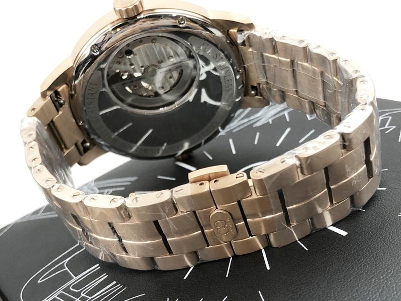 稀少 新品 未使用 未開封 カーティス 自動巻き ピンクゴールド 1円 メンズ 腕時計 PG-RG 2019年モデル 正規 ビッグフェイス 裏スケ_画像4