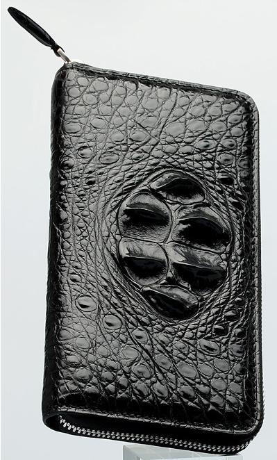 最高級本革保証 ワニ革  クロコダイル  男女兼用 長財布 ラウンドファスナー ハンドバッグ 本物保証_画像3