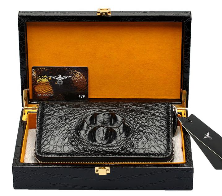 最高級本革保証 ワニ革  クロコダイル  男女兼用 長財布 ラウンドファスナー ハンドバッグ 本物保証