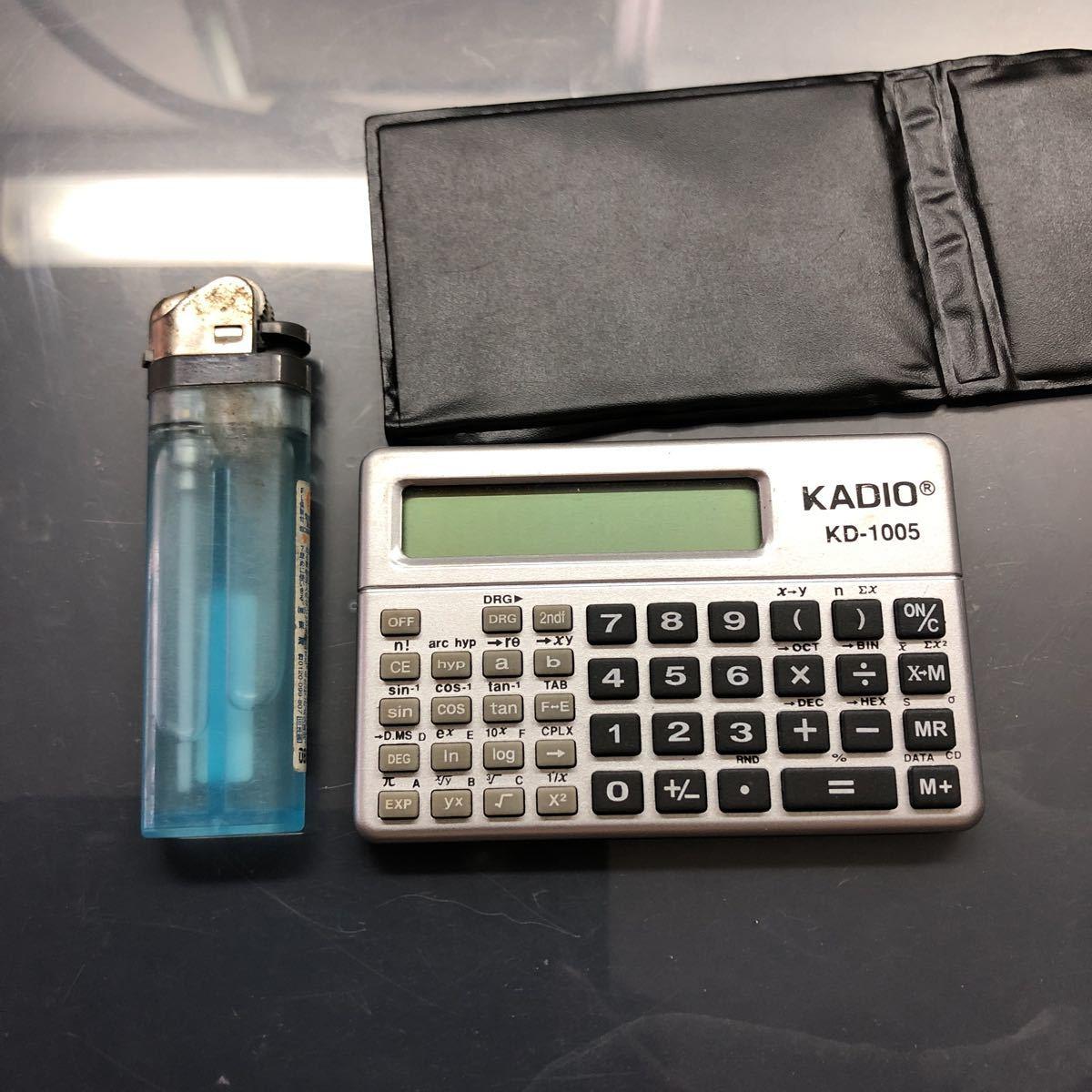 KADIO KD-1005 物凄く小さい関数電卓中古美品_画像7