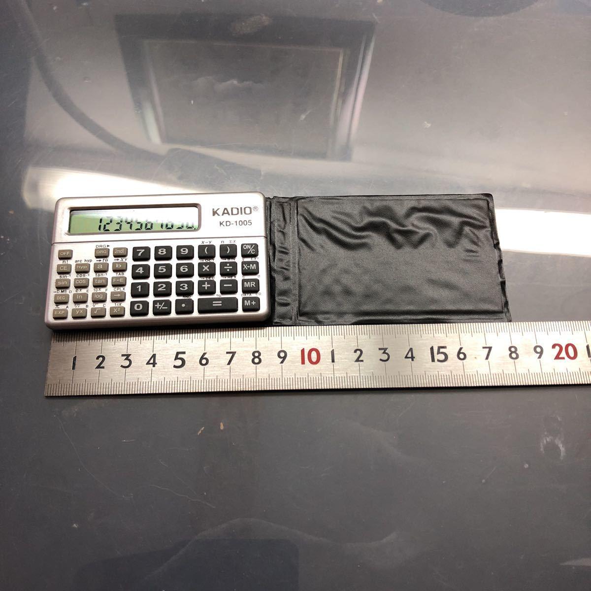 KADIO KD-1005 物凄く小さい関数電卓中古美品_画像4