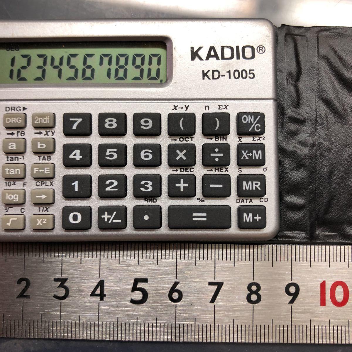 KADIO KD-1005 物凄く小さい関数電卓中古美品_画像3