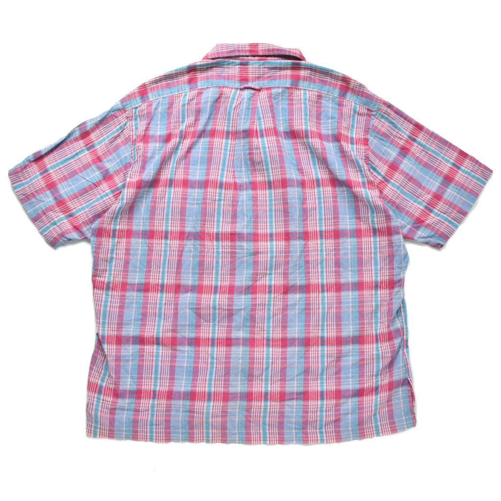 希少 デッドストック 90s POLO ラルフローレン インドマドラス オープンカラーシャツ 開襟 size.XL_画像4
