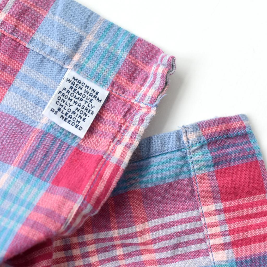 希少 デッドストック 90s POLO ラルフローレン インドマドラス オープンカラーシャツ 開襟 size.XL_画像6