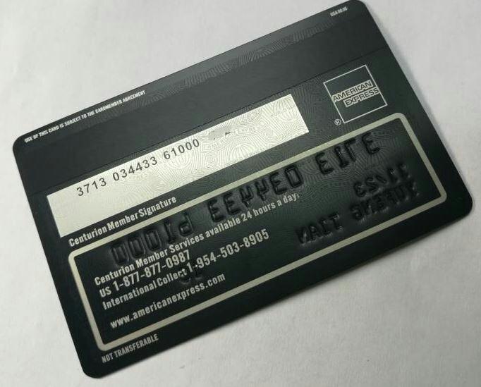 【数量限定】 印字可能! アメックス Amex センチュリオンカード ブラックカード メタル レプリカ_画像6