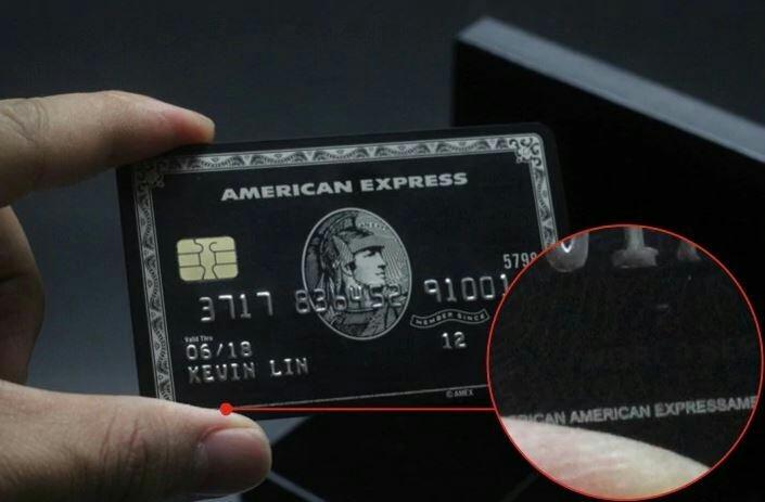 【数量限定】 印字可能! アメックス Amex センチュリオンカード ブラックカード メタル レプリカ_画像4