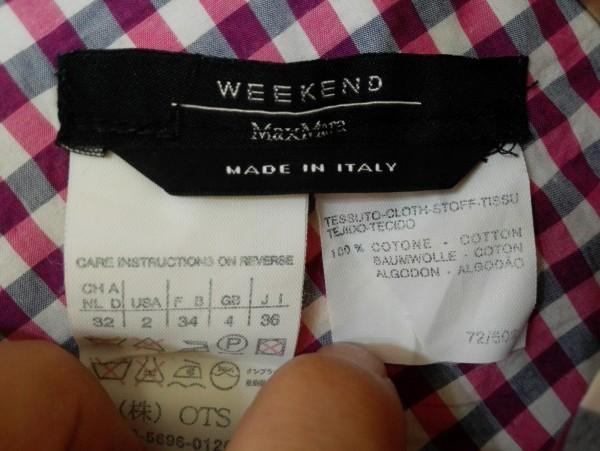 MaxMara WEEKEND マックスマーラ ノースリーブ ワンピース 36サイズ チェック イタリア製 Z8K60_画像4