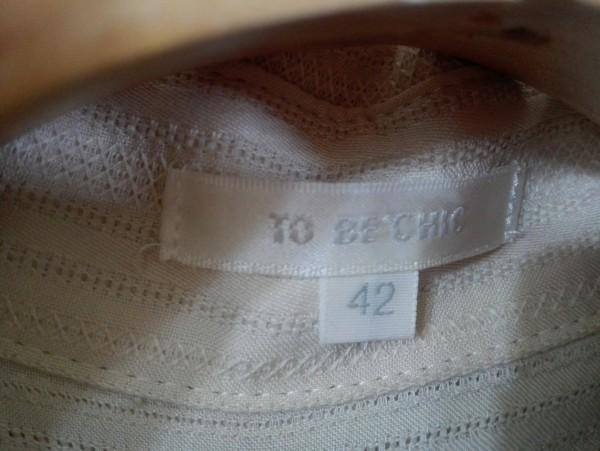 TO BE CHIC トゥービーシック レース シャツ ワンピース 42サイズ Z8K60_画像4