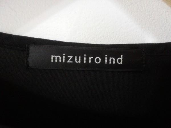 mizuiroind ミズイロインド 長袖 ワンピース ブラック 薄手 レディース Z5K60_画像4