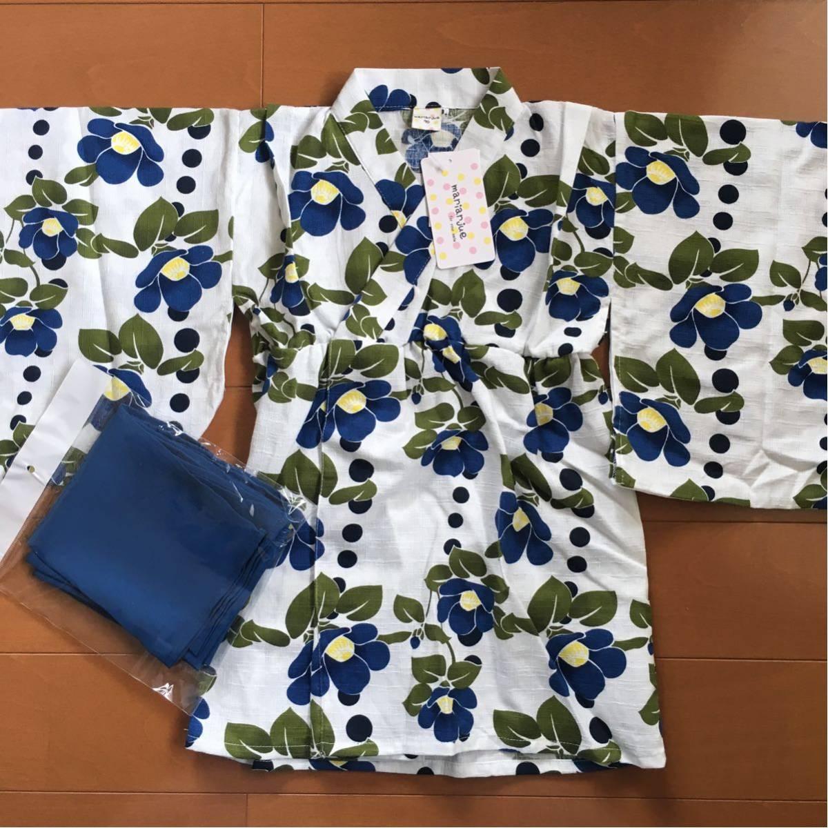 【即決】新品★ゆかたドレス 浴衣ドレス 浴衣ワンピース 甚平 和柄 夏祭り 花火 90