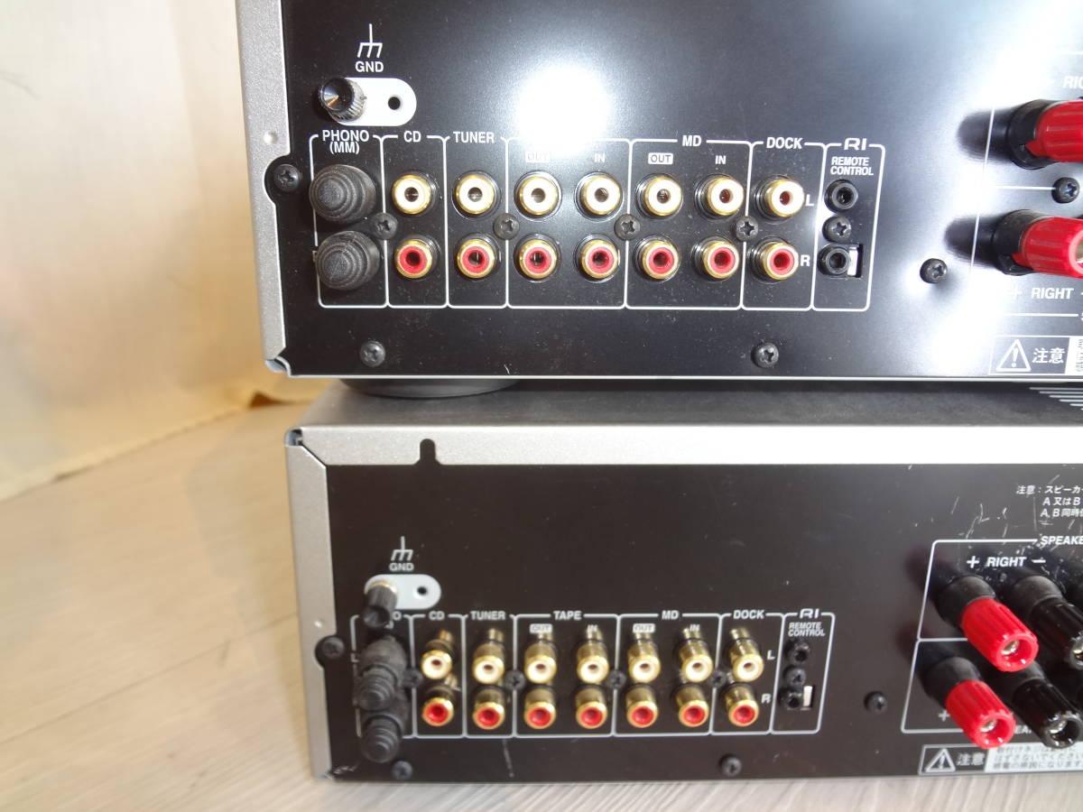 訳あり ONKYO プリメインアンプ A-973 2台セット ジャンク(説明欄参照)音確済 動作確認済 本体のみ 高音質アンプ オンキョー_画像9