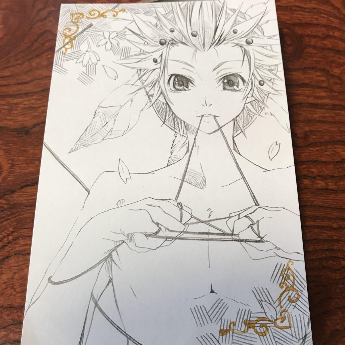 手描きイラスト★ラフ★ファイナルファンタジー★FF3★オニオンナイト コミック、アニメグッズ&手描きイラスト