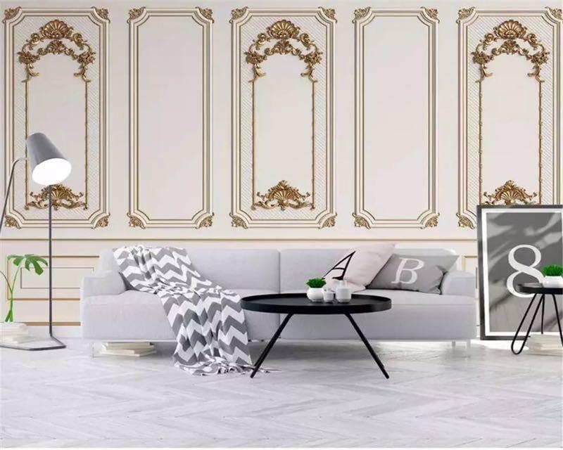Beibehang カスタム任意のサイズ壁画壁紙 3D エンボス加工ドアフレーム石膏ヨーロッパスタイル壁画リビングルームオフィス 3d 壁紙_画像2