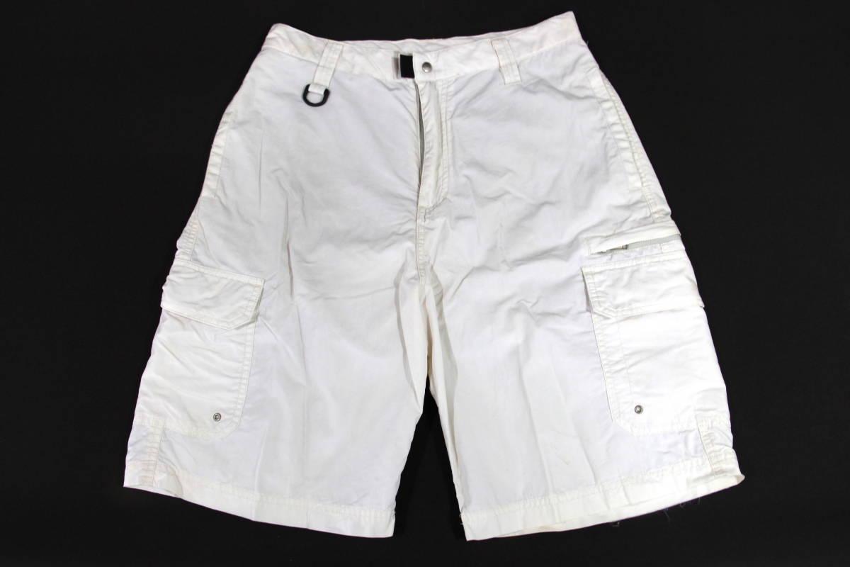 【激レア】90's STUSSY 20/th intl SURPLUS カーゴ ショーツ 30 ホワイト 白 ショートパンツ ハーフパンツ ステューシー_画像1