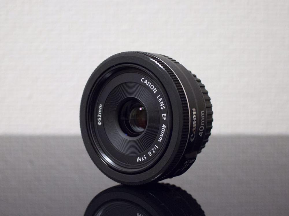 Canon EF40mm F2.8 STM EOS フルサイズ APS-C 単焦点レンズ キヤノン キャノン パンケーキレンズ