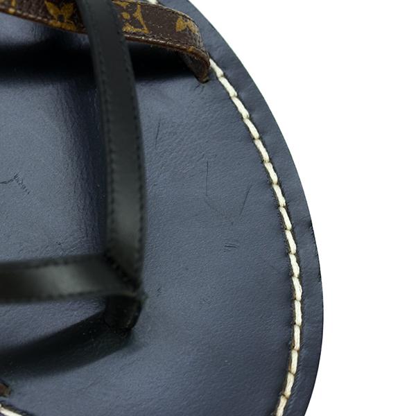 1543 新品展示品 ルイヴィトン シティブレイク・ラインサンダル 36.5 23.5cm モノグラム カーフレザー ブラック ブラウン フラットサンダル_画像7