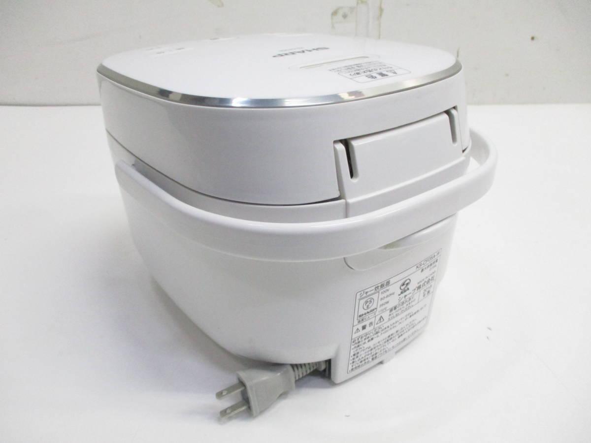 ☆美品 SHARP シャープ ジャー炊飯器 KS-CF05A-W ホワイト 3合炊き 2018年製 1632B☆_画像2