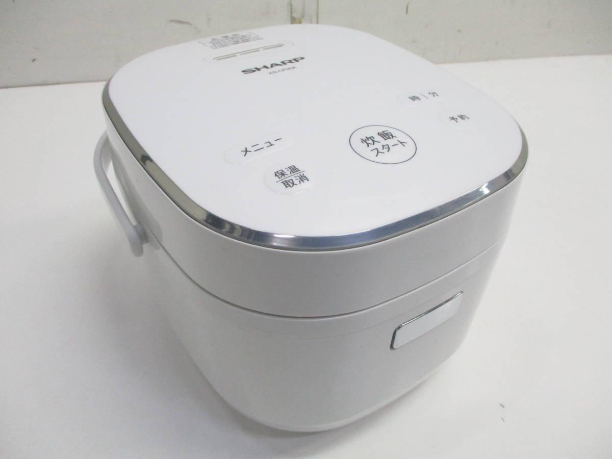 ☆美品 SHARP シャープ ジャー炊飯器 KS-CF05A-W ホワイト 3合炊き 2018年製 1632B☆