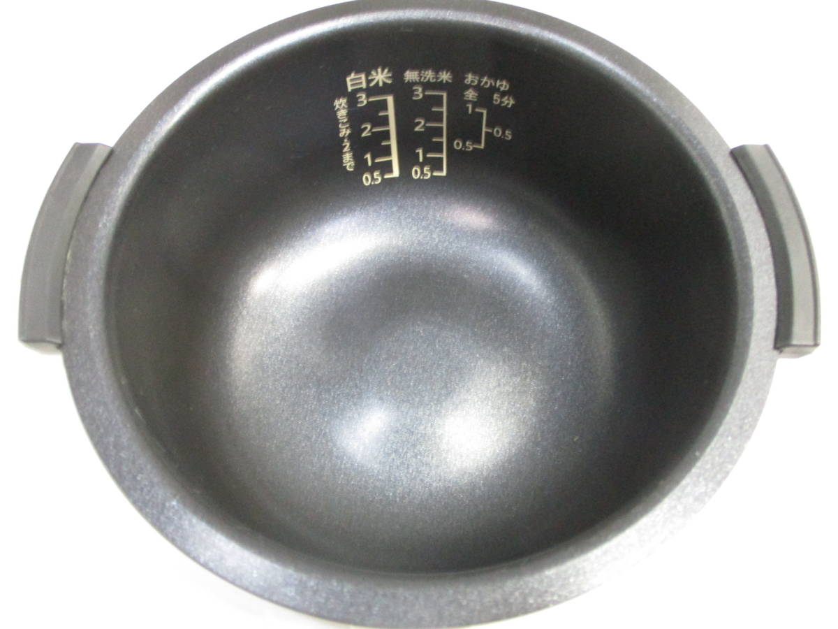 ☆美品 SHARP シャープ ジャー炊飯器 KS-CF05A-W ホワイト 3合炊き 2018年製 1632B☆_画像8