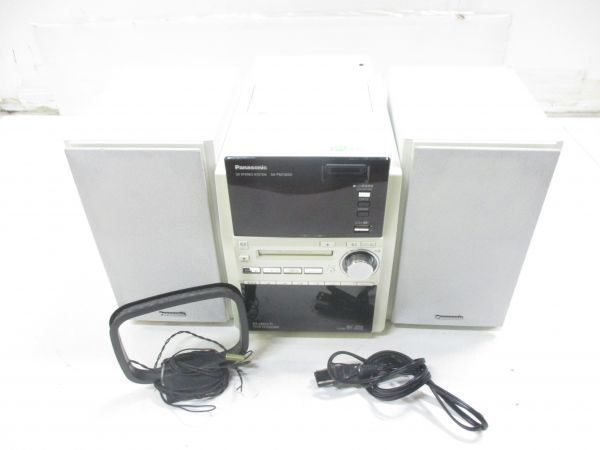 △パナソニック Panasonic ミニコンポ ステレオシステム 06年製 SA-PM730SD 5CD/MD/SD/カセット/ラジオ 4283C3△