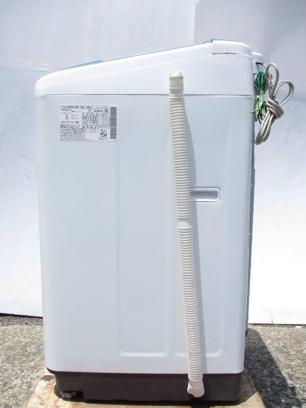 ♪HITACHI 日立 洗濯機 7.0kg ビートウォッシュ エアジェット乾燥 ステンレス槽 BW-7WV 2016年製 給水/排水ホース付き 62505A♪_画像8