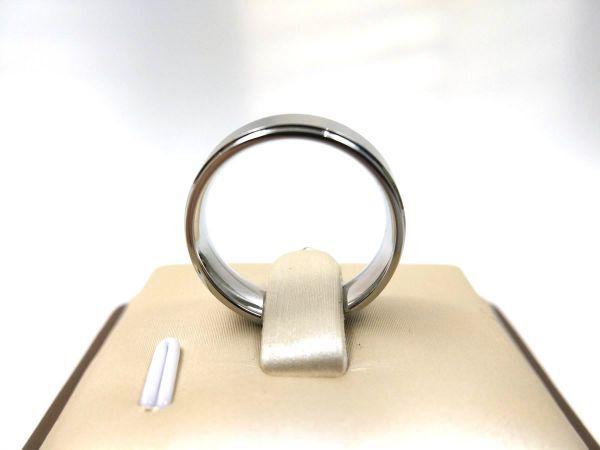 シンプル 溝ライン ステンレス リング 指輪 メンズ シルバーカラー 14号_画像3