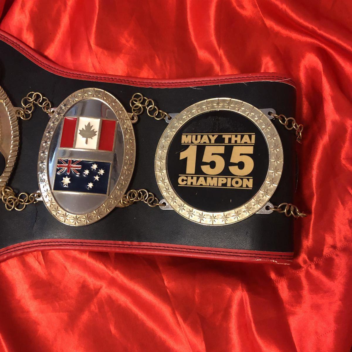 本物 貴重 実使用 70kg級 ムエタイ チャンピオンベルト 格闘技 空手 ボクシング EWC レア キック ボクシング ダイエット 金運 筋トレ UFC_画像2