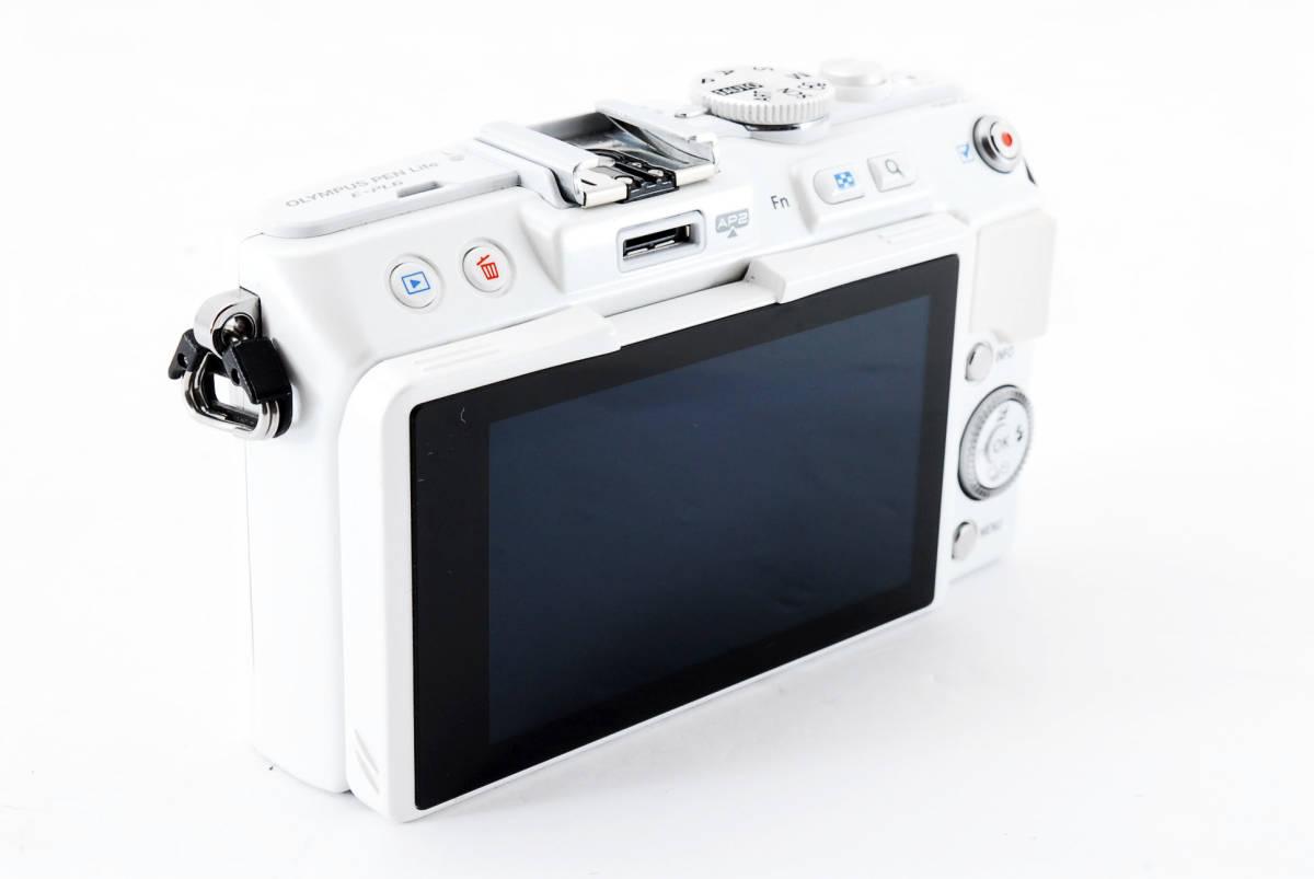OLYMPUS PEN E-PL 6 ホワイト ミラーレス_画像4
