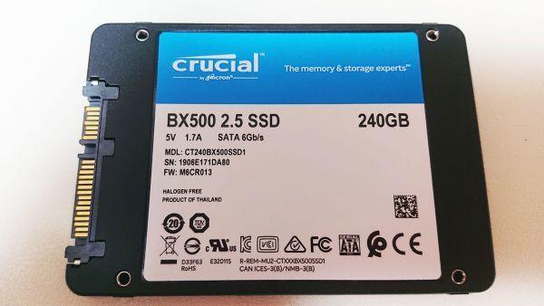 【crucial】中古SSD 検査済み 正常判定 SATA 240GB 送料無料 No.104_画像2